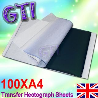 100 X TOP CARBON TATTOO STENCIL KIT /TRACING PAPER A4