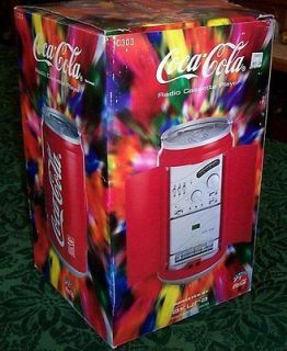 1997 COCA COLA RADIO CASSETTE PLAYER BY AKURA MODEL C303 NEW IN BOX