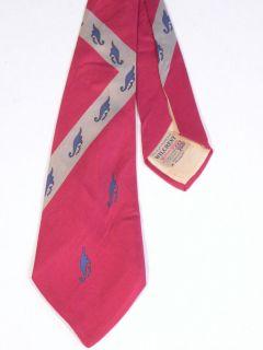 Vtg 40s Neck Tie Swing Era Bold Print Silk Wilson Wear Lindy Hop 52.5L