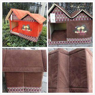 Kennel Soft Warm Home Pet Dog Cat House Washable Folded Doghouse