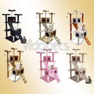 72 Black Brown White Beige Pink Cat Tree Condo Furniture Scratch Post