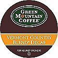 168 K cups GREEN MOUNTAIN VERMONT COUNTRY BLEND DECAFFEINATED COFFEE