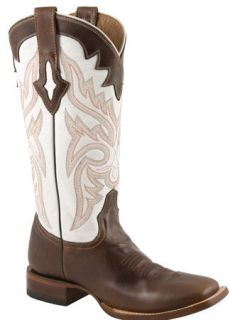 Lucchese Ladies Genuine Oil Calf Cowboy Western Boots Natural M3608