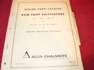 Allis Chalmers CA WD WD 45 Tractors Row Crop Cultivators Dealers