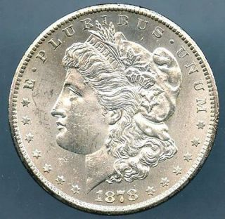 1878 CC Morgan Silver Dollar Choice BU Lot # 1133