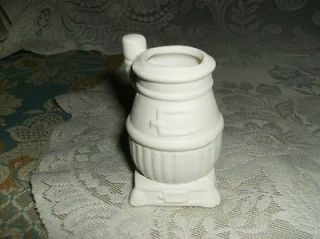 WOOD BURNING STOVE toothpick holder CERAMIC BISQUE CRAFT fire coal