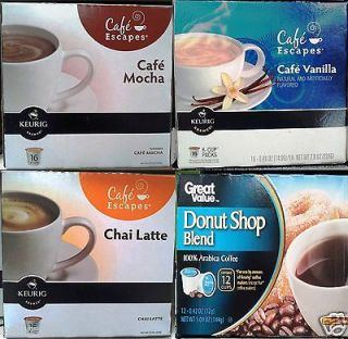 CAFE ESCAPES GREAT VALUE SINGLE SERVE COFFEE KEURIG K CUPS MACHINE