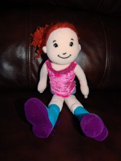 Groovy Girls Doll Celeste Wearing Pink Leotard Blue and Purple Boots
