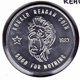 1982 Anti Ronald Reagan Political Coin/Token