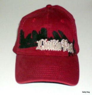 LINKIN PARK BALL CAP/HAT FLEX FIT M/L MAROON