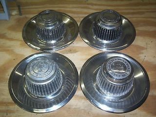 1970s Chevrolet GM center rally wheel hub caps set of 4 3925805