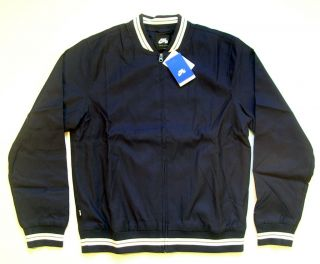 Nike SB Team Varsity Mens Jacket   384060 451   RARE   Navy Blue