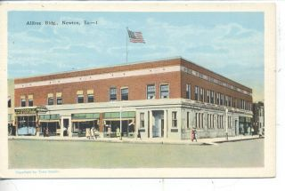 NEWTON IOWA DOWNTOWN STREET SCENE FW WOOLWORTH STORE ANTIQUE VINTAGE