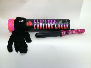 PYT Curling Wand Pink and Purple Zebra 32MM salon professional MSRP $