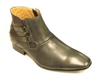 Moretti Mens Italian Design Leather Dress Boots Pointy Slip On BM7105