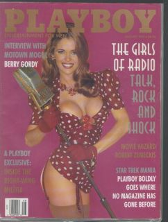 Playboy August 1995 Girls of Radio Berry Gordy Interview Right Wing