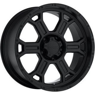 16x8 Matte Black V Tec Raptor Wheels 8x6.5 +18 CHEVROLET SUBURBAN 2500