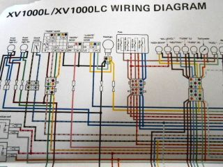 Yamaha OEM Factory Color Wiring Diagram Schematic 1984 XV1000 L LC