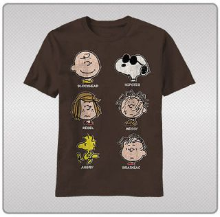 Charlie Brown Peanuts Comic Character Nicknames Snoopy Tee Shirt Sizes