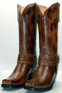 Charlie 1 Horse by Lucchese I4714 Womens Harness Boots Tostado Brown