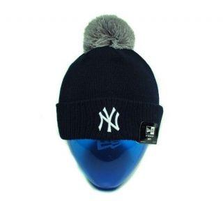 NEW ERA Beanie MLB New York YANKEES Navy Gray Chalk Up Men Beanie Knit