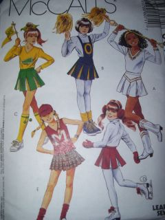 McCALLS #6071 GIRLS CHEER or MAJORETTE SKIRT & TOP PATTERN 7 14 uc