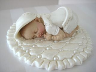 CAKE TOPPER BOY Baptism Christening gown Blanket Centerpiece favors