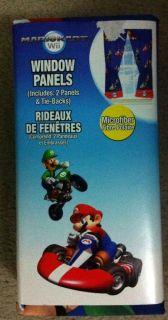 * Nintendo Wii MARIO Kart Window Panels/Curtain s/Drapes Kids Bedroom