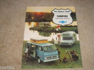 1968 Chevrolet truck pickup C10 C20 CAMPER Van sales brochure