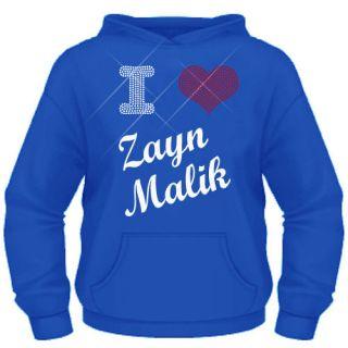 Girls Diamante I Love (heart) Zayn Malik ( One Direction ) hoodie 5 13