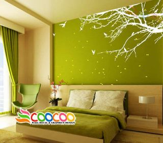 Wall Decal Sticker Mural Removable Small size Coner Top Branch 60W 2