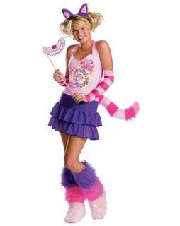 Womens Cheshire Cat Halloween Costume Teen Alice In Wonderland Purple