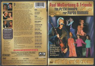 PAUL McCARTNEY/B 52 s/CHRISSIE HYNDE PETA CONCERT DVD
