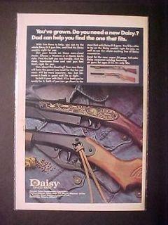 RARE 1975 ADVERTISEMENT ~COWBOY TOY DAISY BB GUN AIR RIFLE AD~ ORIG