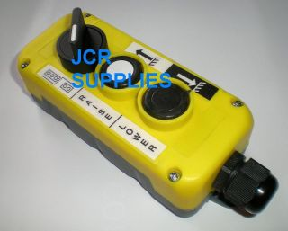 BUTTON TAIL LIFT/WINCH UP/DOWN/SELECT OR CONTROL BOX