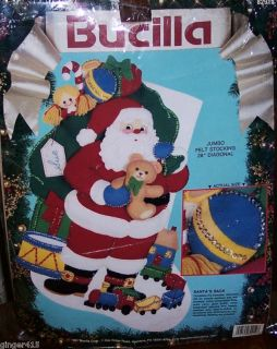 jumbo felt christmas stocking kits