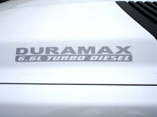 HOOD DECALS FOR CHEVY GMC DURAMAX 6.6 L TURBO DIESEL