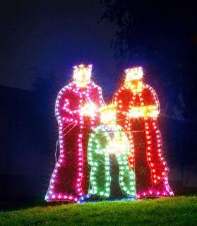 LIGHTED OUTDOOR 3 THREE WISEMAN CHRISTMAS YARD DISPLAY