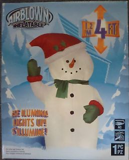Christmas Airblown Inflatable 4 (1.2m) Snowman Outdoor Yard Decor