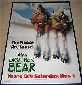 Walt Disneys Brother Bear Ver. B Movie Poster 2 Sided