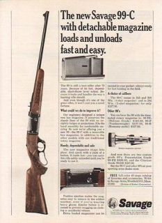 1966 SAVAGE AD MODEL 99 C RIFLE