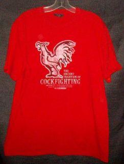 Cockfighting Ancient Tradition T Shirt L Plaza De Gallos Manzanillo