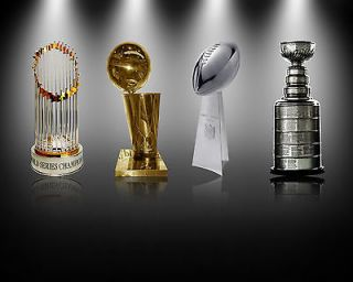 Title Town Stanley Cup Lombardi NBA MLB World Series Trophy 16x20