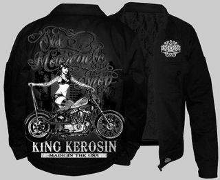King Kerosin Work Jacket Rat Rod Lucky Rockabilly Hot Rod 13 (NEW) 2XL