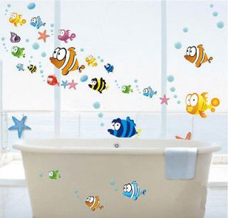 FISH Nursery Room Wall Sticker Decor Decals Removable Art Kids Cool
