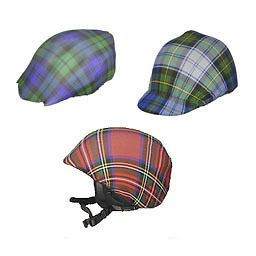 WackySalad Tartan Helmet Covers Cycle, Ski, Snowboard, Equestrian or
