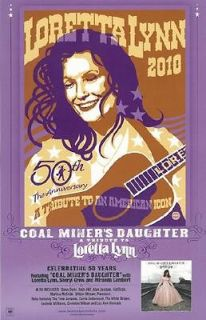 LORETTA LYNN COAL MINERS DAUGHTER 2010 PROMO POSTER ORIGINAL