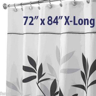 EXTRA LONG bath CLEAR vinyl SHOWER CURTAIN Liner decor