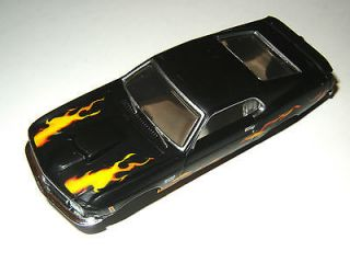 AW AUTO WORLD 1970 FLAMED FORD MUSTANG SLOT CAR BODY