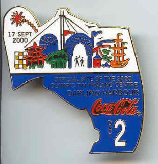 Coca Cola Day 2 Pin Of Day Sydney 2000 Olympic Games Official Site Pin